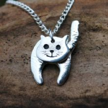 3D Cat pendant necklace P26